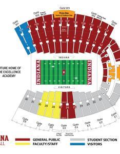 Memorial stadium seating map also indiana hoosiers rh iuhoosiers