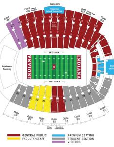 Seating chart  memorial stadium also indiana basketball tickets university athletics rh iuhoosiers