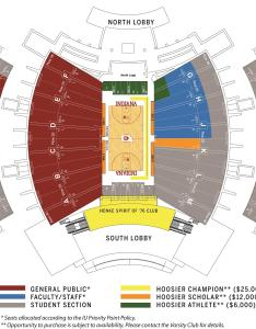 Seating chart  simon skjodt assembly hall also student season tickets indiana university athletics rh iuhoosiers