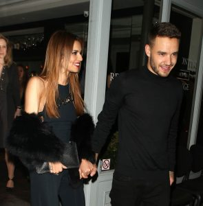 LONDON, ENGLAND - MARCH 09: Cheryl Fernandez-Versini and Liam Payne at Salmontini restarant on March 9, 2016 in London, England. (Photo by Mark Milan/GC Images)