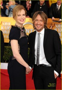 LOS ANGELES, CA - JANUARY 30: Actress Nicole Kidman and musician Keith Urban arrive at the 17th Annual Screen Actors Guild Awards held at The Shrine Auditorium on January 30, 2011 in Los Angeles, California. (Photo by Jason Merritt/Getty Images)