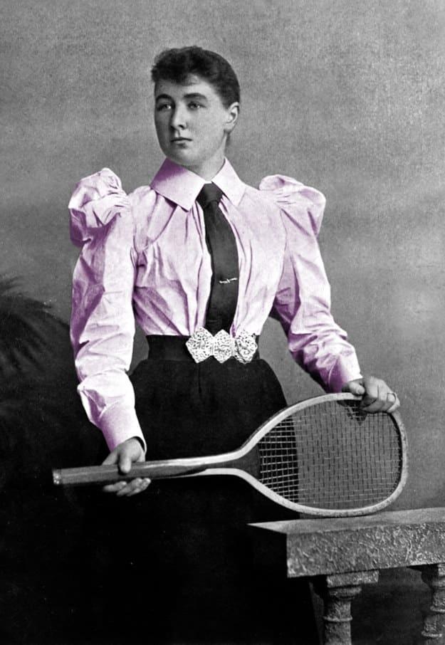Jucatoare de tenis, demult