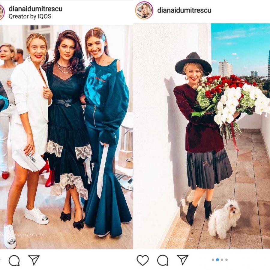 Diana Dumitrescu participă la multe evenimente