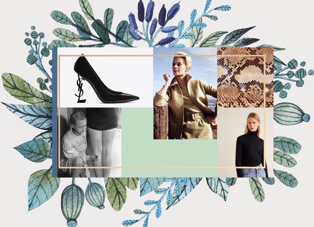 Pantofi stilettos, col roule, coafura Tippi Hedren