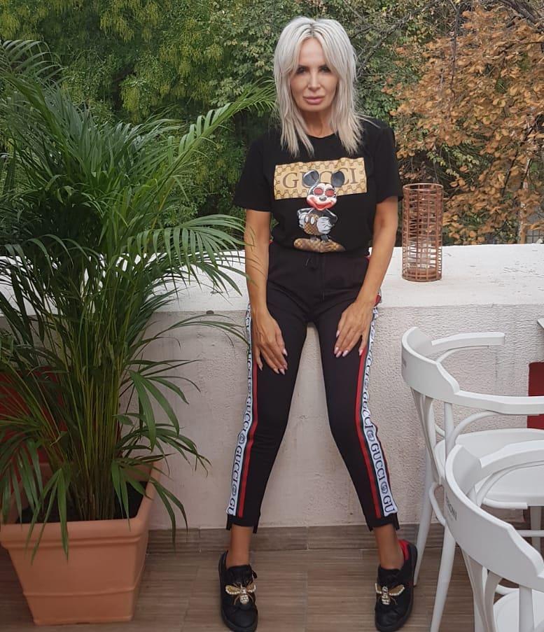 Daniela Gyorf purtand haine fake