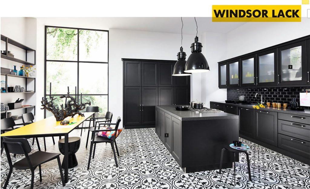 Bucătărie în alb și negru NOLTE