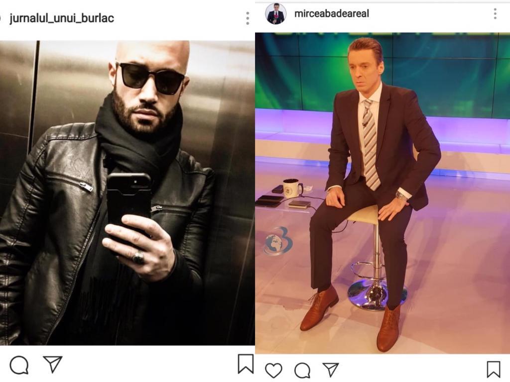 Mihai Bendeac în lift și Mircea Badea în platou