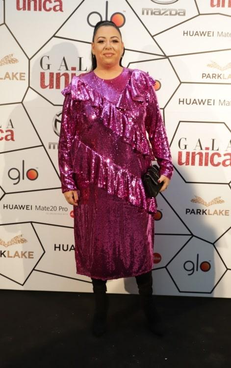 Oana Roman, în rochie la gala Unica