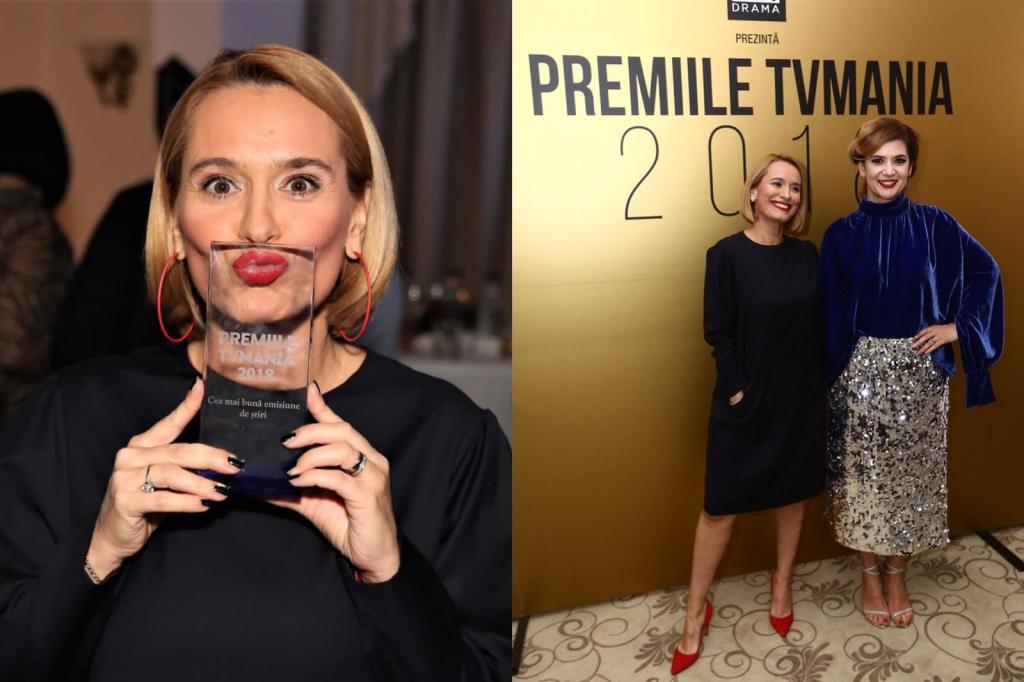 Andreea Esca, premiată la TV Mania