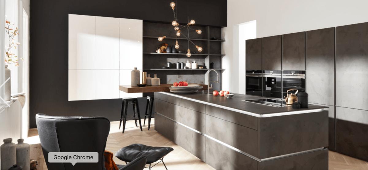 Bucătărie CORONA PORTLAND Cement- antracite by Nolte Home Studio