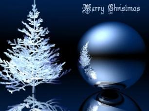 3d Ice Christmas Wallpaper