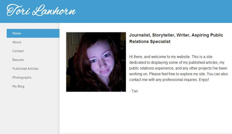 Online Portfolios Tips And Examples For Aspiring PR Pros The  Online Resume Portfolio