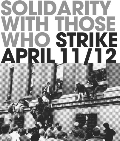 This image promoting the IU-wide strike is making the rounds on social media sites. courtesy of IU on Strike