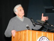 Howard Zinn, who died in 2010, was a professor of political science and wrote extensively about civil rights, anti-war movements and labor history in the U.S.  Photo/Wikimedia Commons