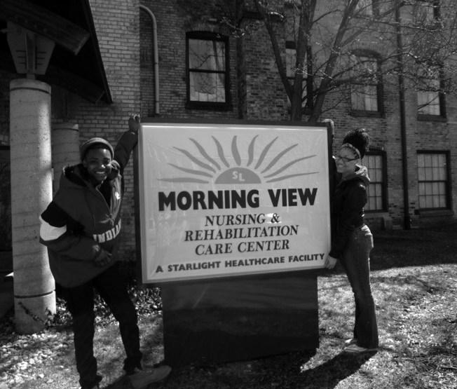 Sisters Assisting Sisters visiting Morning View Nursing Home. Photo courtesy of SAS