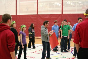A life-size game of Sorry! was brought to the Student Activities Center in 2013 by Titan Productions, one of about 120 student clubs and organizations on campus. (Photo via Office of Student Life)