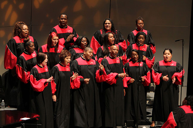 "The IU South Bend Gospel Choir will be part of this month's ""Lift Every Voice: Celebrating the African American Spirit"" concert. (Photo/Ernestine M. Raclin School of the Arts)"