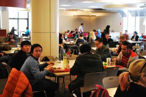 Students eating at the University Grill. Preface photo/Nick Wort