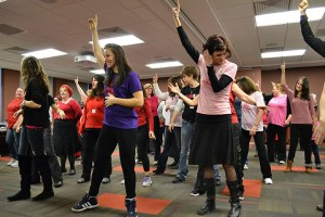 Valentine's Day flash mobbers dancing in the University Grill last year.  Preface photo/SARAH WARD