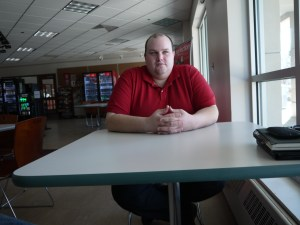 Student, campus worker and author Jim Master sits in an empty Sub Connection. (Preface photo/Ryan L. Gruenewald)