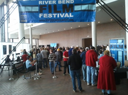 Crowd enters film festival, River Bend Film Fest, 2013. (Photo provided)