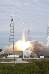 Photo caption: SpaceX, founded in 2002 by Elon Musk, sees liftoff of its Falcon 9 launch vehicle at Cape Canaveral Air Force Station. The company hopes its aircraft will one day aid in the first human colonization of Mars.