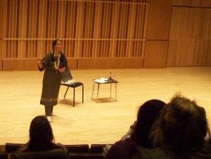 Dr. Phillips portrays Sacagawea at the Louise E. Addicott and Yatish J. Joshi Performance Hall.Photo credit/Chrissy Bohlmann
