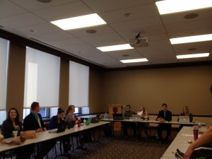 Student government in action at a weekly meeting. Preface photo/Ryan Lohman
