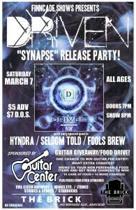 Flier for Driven's album release party, courtesy of the band's Facebook page.