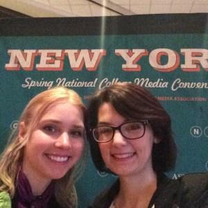 Amanda Barnett and Jordan Rae Lucas at the Spring National College Media Convention in New York City. Preface photo/Jordan Rae Lucas