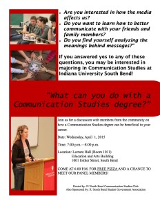 The Communication Studies Club is hosting a communication panel on April 1st. Photo Credit/Kari Wilson