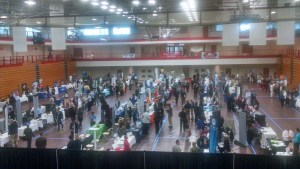 Students gather to meet with potential employers at the career fair. Preface photo/Christine Aiken