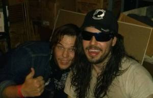 Me and a very drunk Andrew W.K. after interviewing him for The Preface.