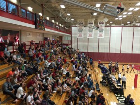 Volleyball fans fill the stands on the Titans home opener, Tuesday September 8