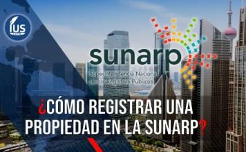 como registrar una propiedad en la Sunarp