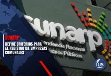 Sunarp define criterios para el registro de empresas comunales