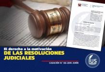 El derecho a la motivación de las resoluciones judiciales