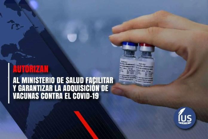 Autorizan al Ministerio de Salud facilitar y garantizar la adquisición de vacunas contra el COVID-19