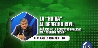 """Análisis de la constitucionalidad del """"acuerdo previo"""""""