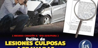 Delito de lesiones culposas agravadas