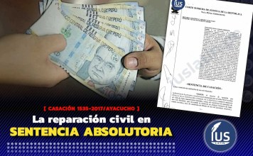 La reparación civil en sentencia absolutoria