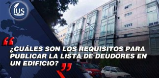 ¿Cuáles son los requisitos para publicar la lista de deudores en un edificio?