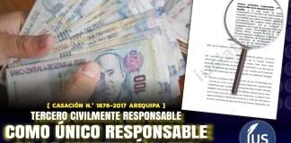 Tercero civilmente responsable como único responsable de la reparación civil