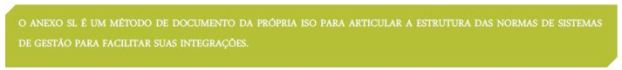 Descrição do Anexo SL da ISO 45001