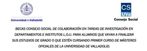 Convocadas las Becas Consejo Social para la colaboración en institutos y departamentos