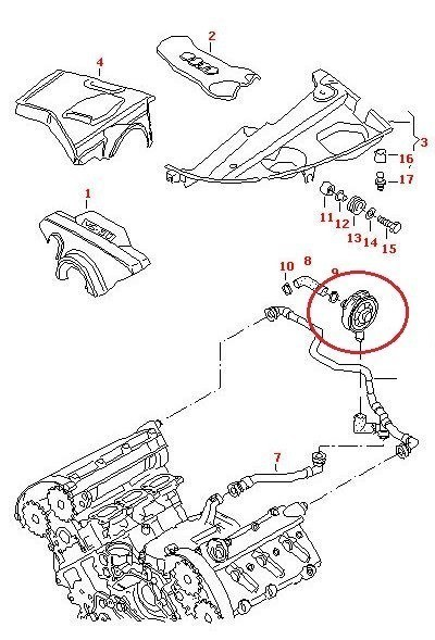 New Crankcase Vent Valve Breather Audi A4 B6 A6 C5 A8 VW