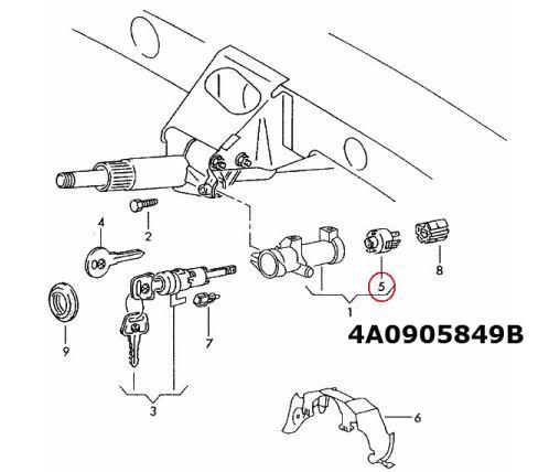 Zündung Anlasser Swich VW Passat Skoda Octavia Audi A6 80