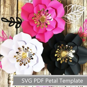 paper flower template