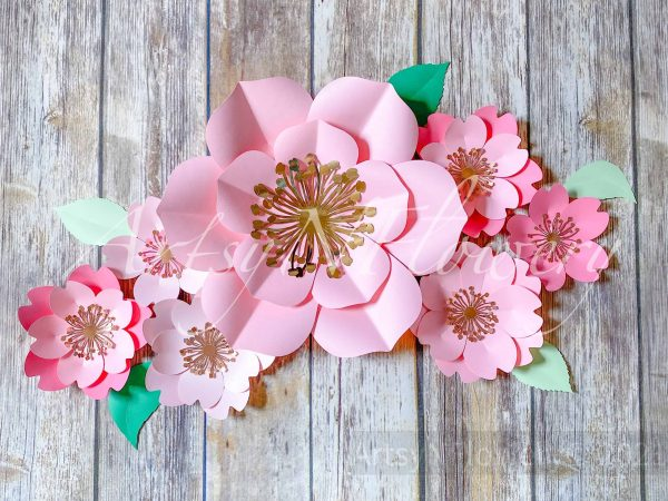 paper flower template pack