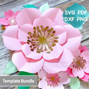 paper flowertemplate bundle
